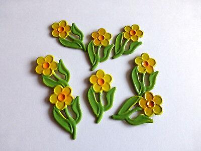 36  Blumen Filz  Streudeko  Tischdeko  Streuelemente Basteln Kartengestaltung