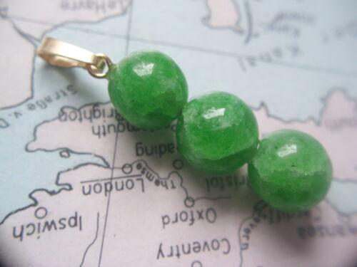 cadenas de oro colgante 585 con 3 balas esmeralda 9mm Bala esmeralda remolque de oro 585