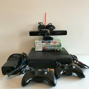 Microsoft Xbox 360 S 4GB Console Bundle w/Kinect 2 Controllers Minecraft 6 Games