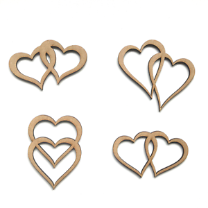 Wooden-MDF-Entwined-Love-Hearts-Shapes-Craft-Wedding-Heart-Embellishment