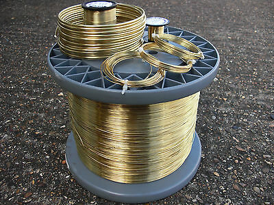 BRASS CRAFT WIRE 3 COIL PACK 1.5mm 14 GAUGE 3 X 1.75mts NICKEL FREE