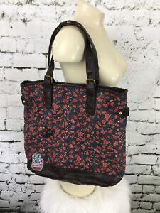 "deb44d0f2450 Mudd Tote Bag Purse Floral Print Brown Pink Flowers 14"" X 13"""