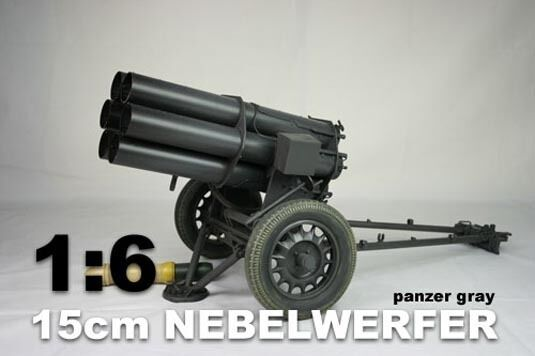 DID 1/6 Scale WWII German 15cm Nebelwerfer Panzar Gris for 12   Action Figures