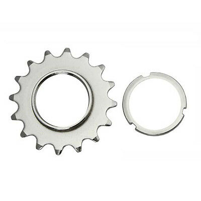 Silver 13T 1//8 Single Speed Fixed Fixie Cog /& Lockring Fixie Track Bike Bicycle