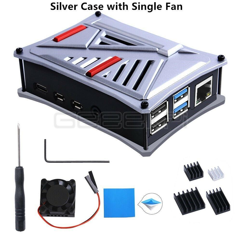 Silver Case with Single Fan