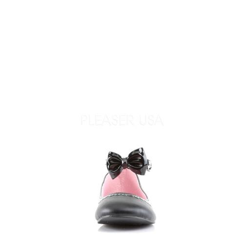 Ankle Black Demonia Flat donna da 27 Star Bow Strap Ballet Scarpe vn0vrq