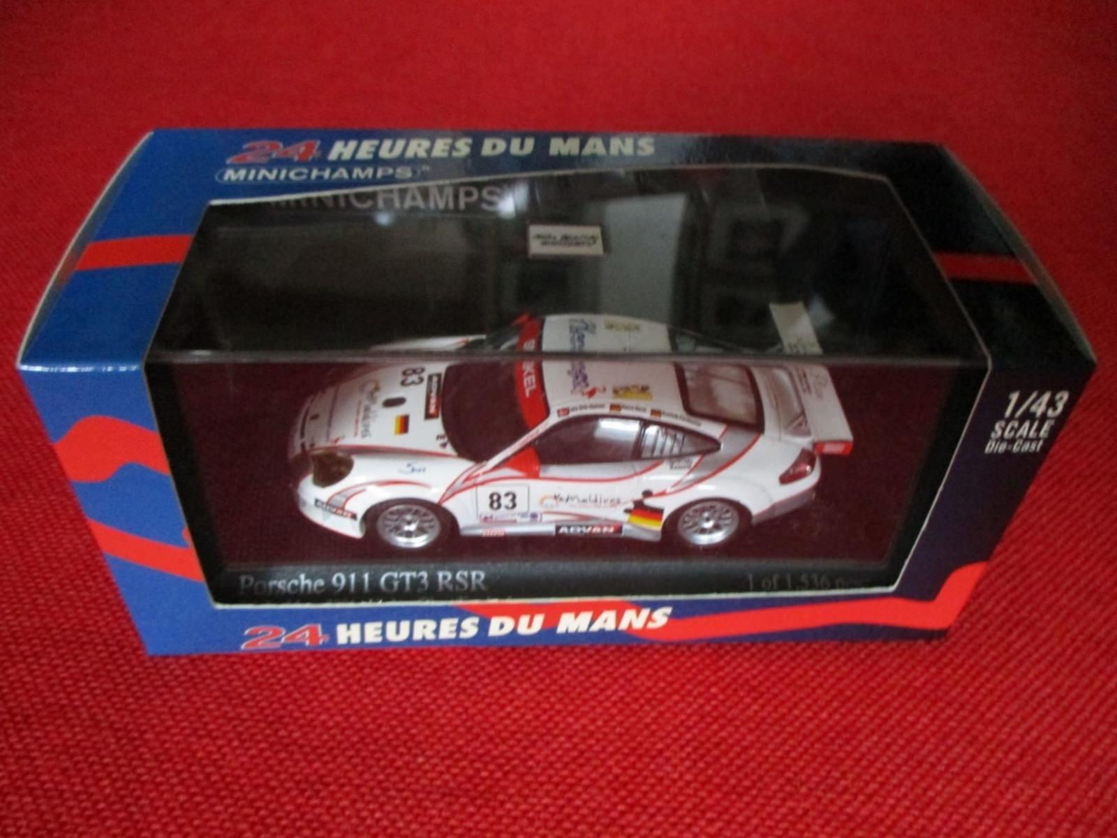 Minichamps ® 400 066483 1:43 PORSCHE 911 gt3 RSR 24h Le Mans 2006 NUOVO OVP