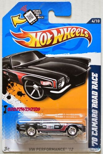 HOT WHEELS 2012 HW PERFORMANCE /'70 CAMARO ROAD RACE #4//10 BLACK