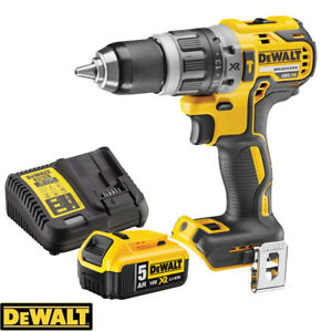 Dewalt-DCD796N-18v-Brushless-Compact-Combi-Drill-1-x-5Ah-Battery-amp-Charger