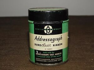 VINTAGE-TYPEWRITER-DURO-CLEAR-ADDRESSOGRAPH-RIBBON-TIN-CAN-EMPTY