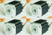 【usa Free】4 Pcs Nema 23 For 270oz-in Cnc Stepper Motor/3.0a Mill,1/4'' Shaft,2ph