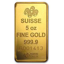 5 oz Gold Bar - Secondary Market - SKU #24508