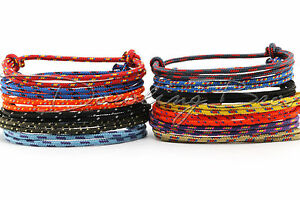 Image Is Loading One Handcrafted Climbing Rope Adjule Knot Cord Bracelet