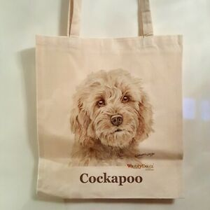 CAIRN TERRIER DOG TOTE BAG SHOPPER REUSABLE BAG BY WAGGY DOGZ