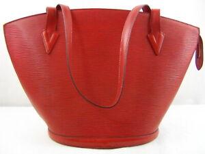 Us Seller Authentic Louis Vuitton Epi Saint Jacques Shoulder Bag Lv Good Red Ebay