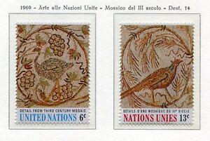 19090-UNITED-NATIONS-New-York-1969-MNH-Roman-Mosaics