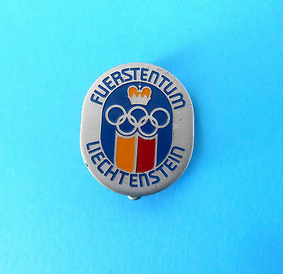 Old Rare Olympics Pin Badge Olympic Games To Invigorate Health Effectively Principality Of Liechtenstein Noc