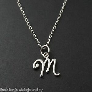 M Letter In Silver Tiny Initial Le...