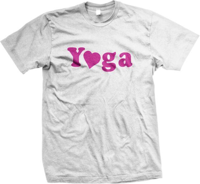 Yoga Heart Excercise Health I Love Yoga Funny Sayings Statments Men S T Shirt Ebay
