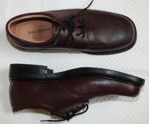 $160 JULIUS MARLOW 8.5 9 STYLISH MENS dress Shoe BROWN LEATHER KENNEDY AS NEW