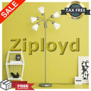Bright Light Dorm Room Essentials 5 Head Tall Floor Lamp Flexible Gooseneck Arms 22011655741 Ebay
