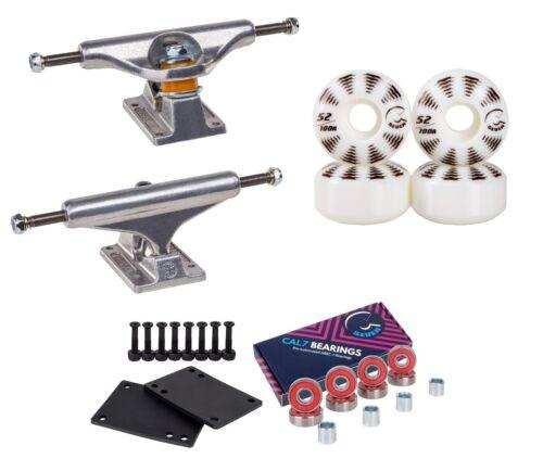 Independent 139 Trucks Skateboard Package Cal 7 52mm Wheels Bearings Bushings