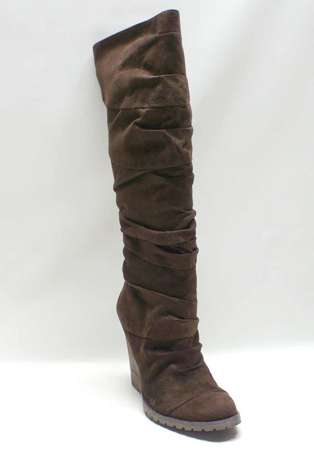 Carlos Santana  Brown Knee High Boots Caress Women's shoes US 9.5