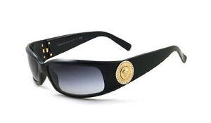 88fa743bd13b54 Image is loading RARE-Authentic-VERSACE-Medusa-Diamontes-Gold-Black- Sunglasses-