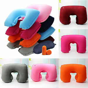 Car-Flight-Travel-Soft-Inflatable-Neck-Rest-Cushion-U-Pillow-SupportComfortable