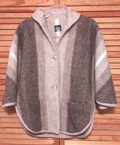 Sjal M Kvinders Jacket Zealand Button Rusk Finch Sjælden Ull New Front S Stripes 0IHXnA