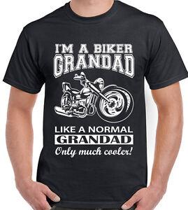 40fcd732f I'm A Biker Grandad - Mens Funny Motorbike T-Shirt Father's Day ...