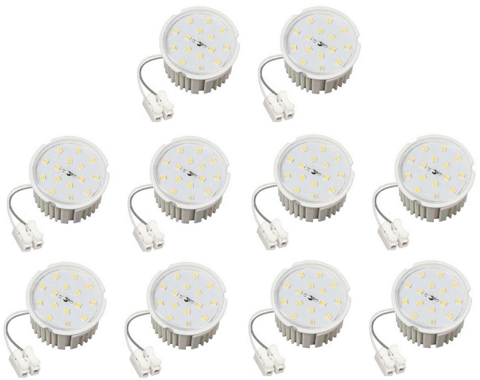10xLed Flat Flache Birne Lampe warmweiß 7Watt 50x33mm 230 Volt für Einbauspots