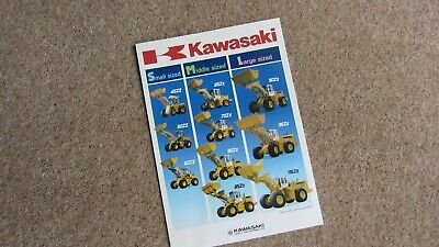 Frank Kawasaki Full Range Loading Shovel Brochure 9102 R Circa 1990 Other Tractor Publications