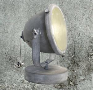 Brilliant Retro Tischleuchte Tischleuchte Beton Optik Grau Leuchte 94828//70