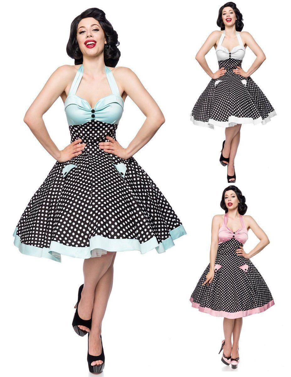 Neckholer Vintage-Swing-Kleid Tellerrock Belsira 50er-Jahre 50066