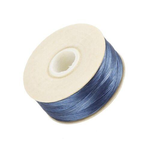 Nymo Size D Nylon Bead Weaving Thread E11//14 Royal Blue 64 yards Pre-waxed