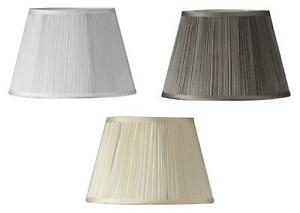 Pleated Silk Effect Fabric Empire Drum, Silk Lamp Shades For Table Lamps Uk