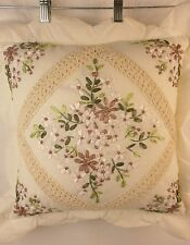 "Domestications Michelle Toss Pillow 16 x 16"" Ivory New 6405S 14035D"