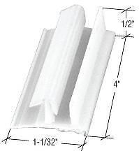 """1-1//32/"""" Sliding Shower Door Bottom Guide Package"""