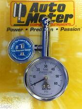 Auto Meter 2343 Tire Pressure Gauge Autogauge with peek Hold 0-60 PSI Autometer