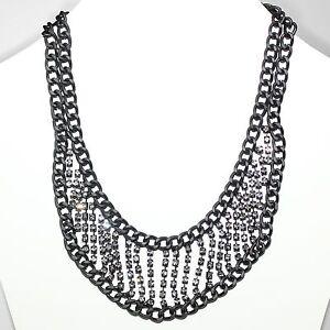 Details zu Collier Damen Kette Kurze Halskette Modeschmuck Gothic Strass Schwarz