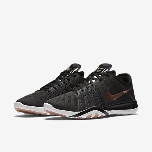 WOMEN'S NIKE FREE TR 6 Schuhe SIZE 11.5 schwarz ROT bronze 833413 005