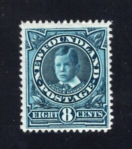 Newfoundland-1911-Sc-110-8c-BLUE-Prince-of-Wales-Mint-F-VF-H