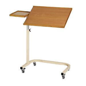 Betttisch-Beistelltisch-Pflegebett-Rollstuhltisch-Pflegetisch-Tisch-Rehatisch