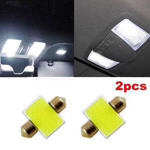 New 2pcs White 31mm 12smd COB LED DE3175 Bulbs For Car Interior Dome Map Lights
