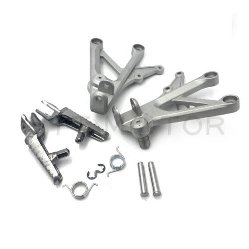 Front Footrest Foot Pegs Bracket For Honda CBR600F4I 01-07 CBR600 F4 99-00 Silve