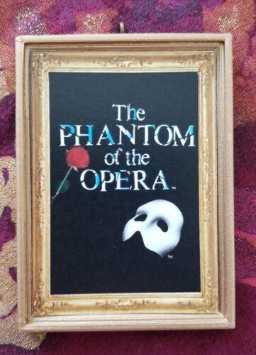Phantom Of The Opera Christmas Custom Handmade Ornament//Magnet//Dollhouse Mini