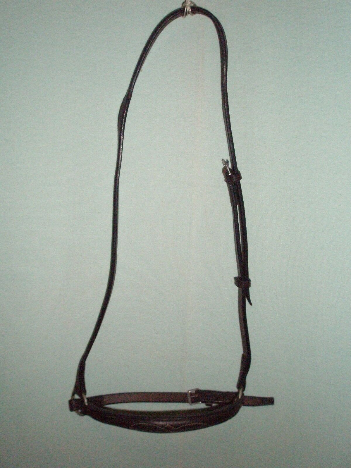 Full English Brown Leather Detailed Drop Noseband