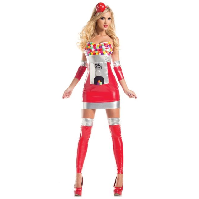 Gumball Machine Costume Adult Halloween Fancy Dress
