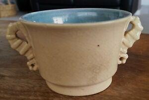 Klytie-Pate-3-x-seahorse-handle-cups-1-sugar-bowl-Australian-pottery